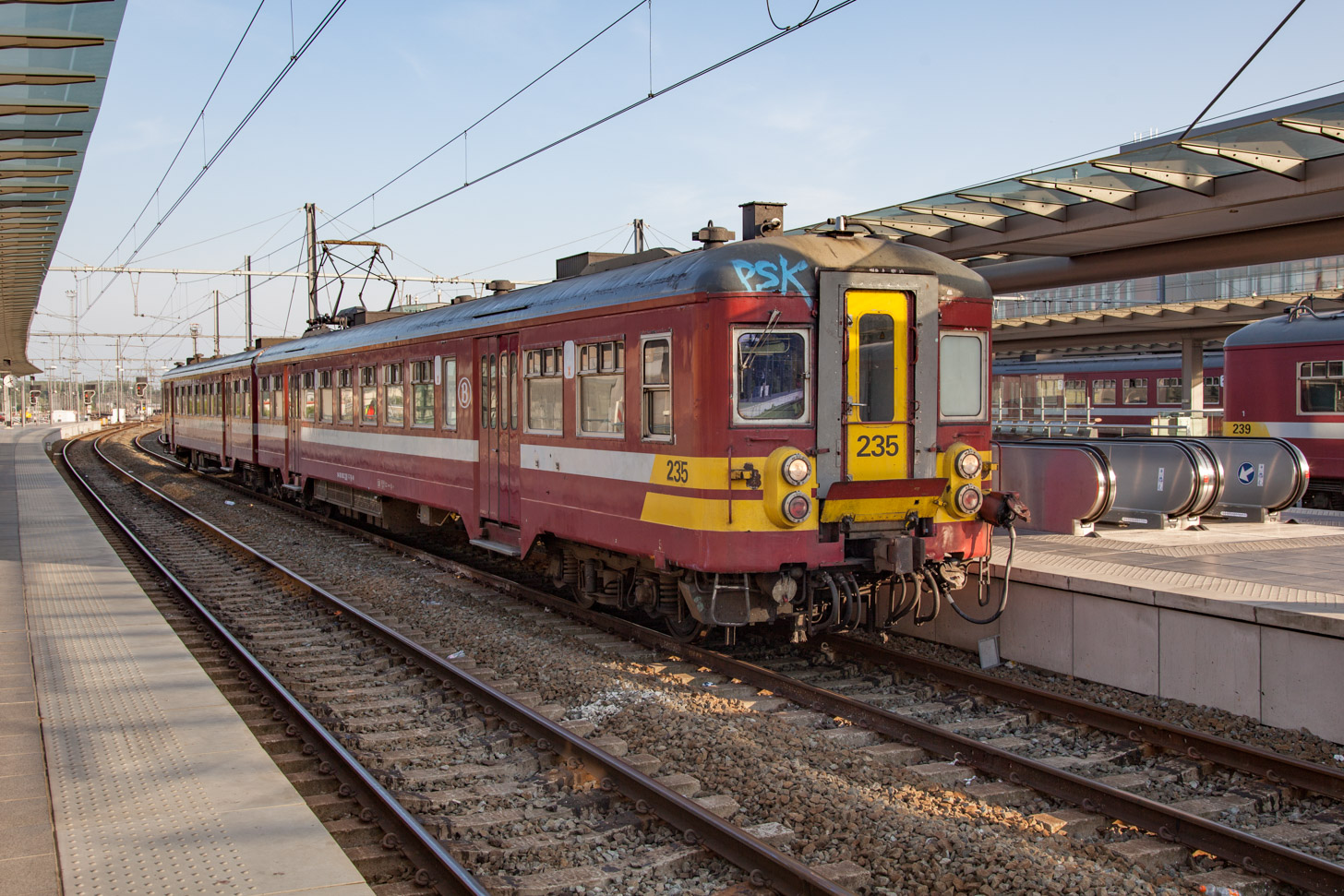 met de trein naar Brugge